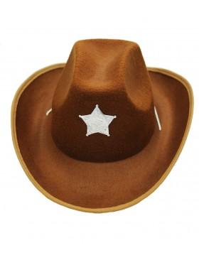 cowboy hat Rough Rider hat  Western Suede Look Cowboy Hat Fancy Dress Accessory