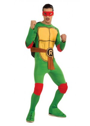 Movie/TV/Cartoon Costumes - TV Show TMNT Teenage Mutant Ninja Turtles Costume Rubie's Raphael Red