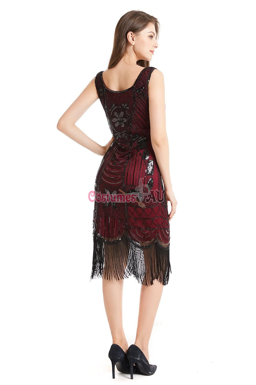 Deluxe Ladies 20s 1920s Roaring Flapper Costume Sequin