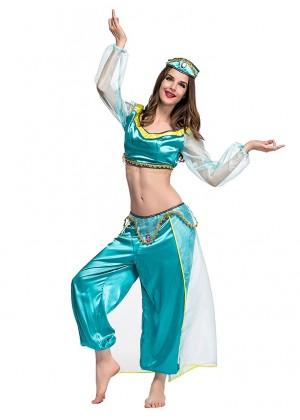 Arabian Genie Aladdin Fancy Dress Up Costume Outfit