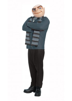 Disney Felonius Gru Despicable Me Villain Mens Minion Boss Fancy Dress Up Halloween Costume
