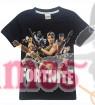 Black FORTNITE Game Boys Girls T-Shirt