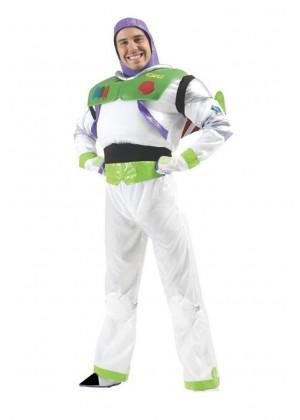 Mens Disney Toy Story Delux Buzz Lightyear Fancy Dress Costume Outfit Book Week