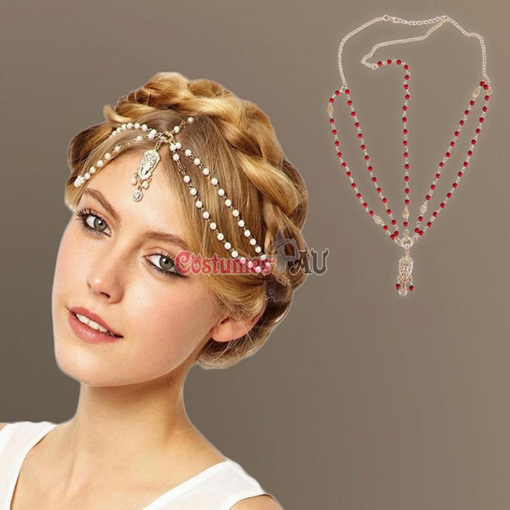 More Views. Deco Vintage Hairband 20s Flapper Chain Headband Great Gatsby  Downton Wedding Boho Goddess 7323c1ec34b