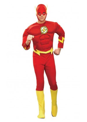 The Flash Muscle Chest Justice League DC Comics Halloween Adult Costume