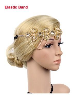 1920s Headband Vintage Bridal Great Gatsby Flapper Headpiece gangster ladies