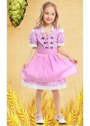 Bavarian Oktoberfest Beer Maid German Fancy Dress Up Girls Costume Kids Book Week Day Outfit