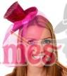 HOT PINK Fever Mini Top Hat on Clip Ladies Mini Glitter Top Hat