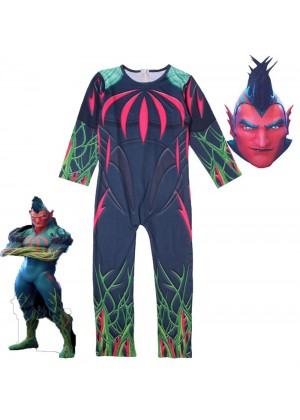 Kid Halloween Fortnite Costume Flytrap Cosplay Jumpsuit