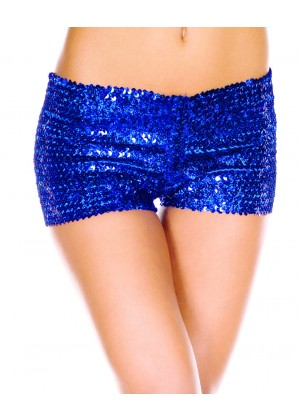 sequin shorts 145blue