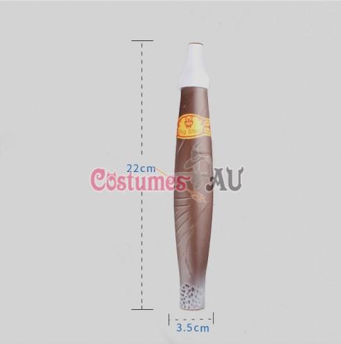 Jumbo Cigar Gangster Fat Cat Fake Joke 20s Trick Smoking Mexican Fancy Dress Costume Accessory 22cm
