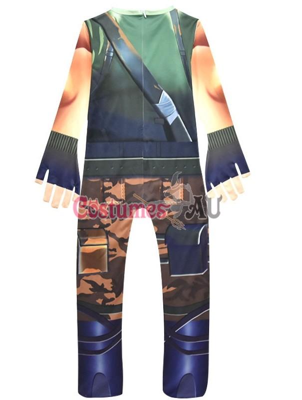 Kids Boys Fortnite Cosplay Costume Jumpsuit Playsuit Halloween Fancy