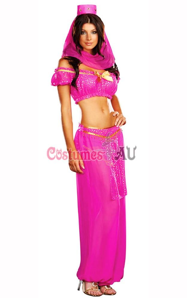 Ladies Arabian Genie Aladdin Fancy Dress Up Hens Party Costume