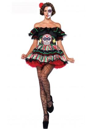 Dia De Los Beauty Halloween Fancy Dress Costume