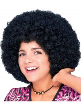 Afro Black 60s 70s Disco Pimp Hippie Costume Men Women Wig