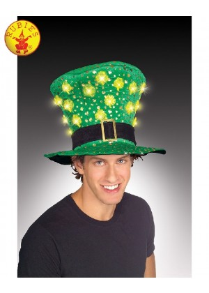 ST. PATRICKS DAY LIGHT UP HAT Costume Accessories