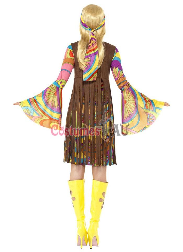 1960s Groovy Lady Hippie 70s Disco Retro Dance Party Costume