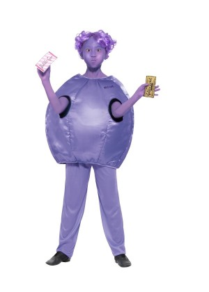 Kids Roald Dahl Violet Beauregarde Wonka Book Week Charlie Chocolate Costume