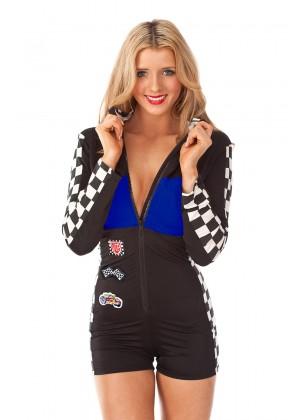 Blue Racer Racing Uniform Costume