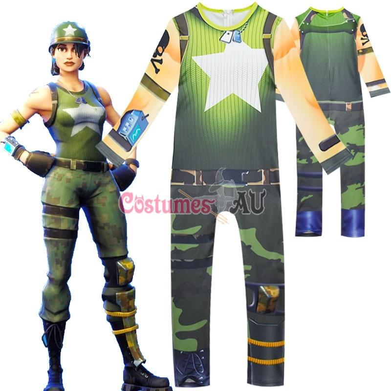 Kids Boys Girls Fortnite Cosplay Costume Jumpsuit Playsuit Halloween