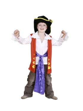 Boys Child The Wiggles Captain Feathersword Dress Up Set Book Week Costume