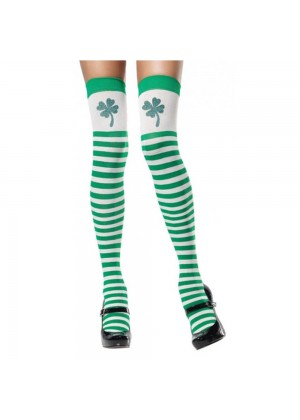 ST PATRICKS DAY Stockings LEPRECHAUN  NOVELTY ADULT irish green COSTUME ACCESSORY