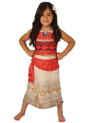 Moana Polynesia Princess Dress Girls Child Kids BookWeek Hawaiian Necklace Girls Costume