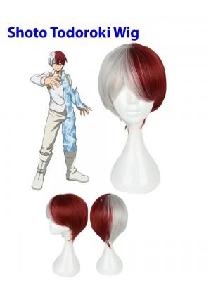 My Boku no Hero Academia shoto todoroki Anime Cosplay Costume Wigs