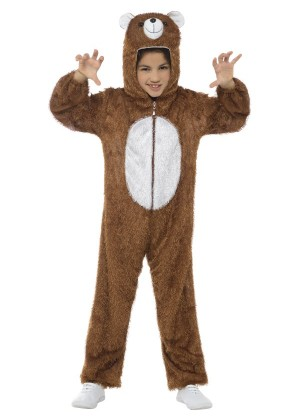 Bear Teddy Book Week Animal Jumpsuit Boys Girls Kids Fancy Dress Costume Onesie