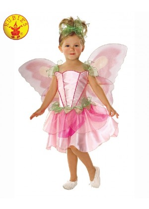 Springtime Pink Fairy Fairytale Pixie Girls Fancy Dress Fairies Childs Kids Costume Wings