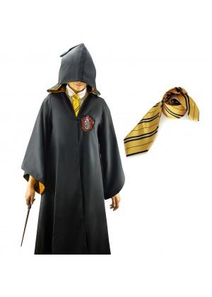 Hufflepuff  Boys Girls Harry Potter Kids Robe Tie Costume Cosplay