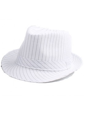 f8cf9120605 White Adult 1920 s 20s Gangster Hat Trilby Al Capone Gatsby Fancy Dress  Costume Accessory