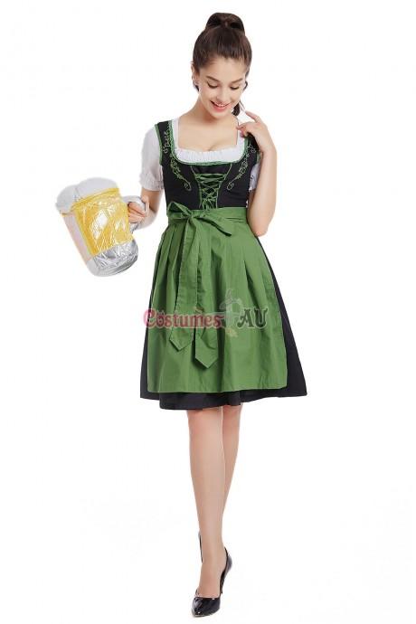 Ladies Beer Maid Wench Costume Oktoberfest Gretchen German Fancy Dress Halloween
