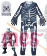 Kid Halloween Fortnite Costume Skull Trooper Cosplay Jumpsuit