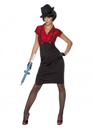 Ladies Gangster Costume cs33722