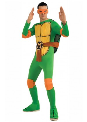 Movie/TV/Cartoon Costumes - TV Show TMNT Teenage Mutant Ninja Turtles Costume Rubie's Michelangelo Orange