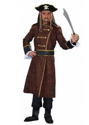 Pirate Costumes - Adult Pirates Of The Caribbean outfit Captain Jack Sparrow PRESTIGE Costume