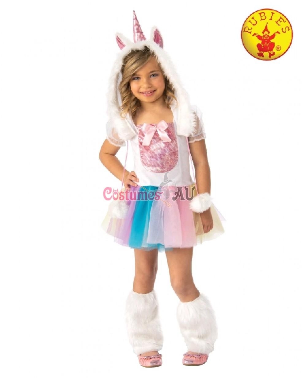Girls Rainbow Unicorn Costume Child Book Week Animal Kids