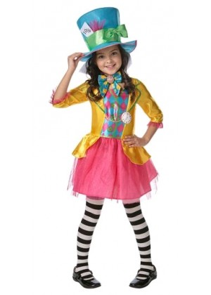 MAD HATTER GIRLS Alice DELUXE COSTUME CHILDREN BOOK WEEK IN WONDERLAND