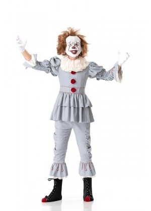 Teens Pennywise  IT Movie Stephen King Horror Clown Scary Costume Halloween