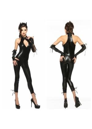 Catwoman Cat Woman Costume Ladies Supergirl Superhero & Villain Fancy Dress