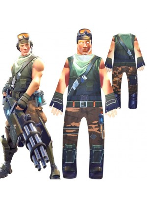 Kids Boys Fortnite Cosplay Costume Jumpsuit Playsuit Halloween Fancy Dress