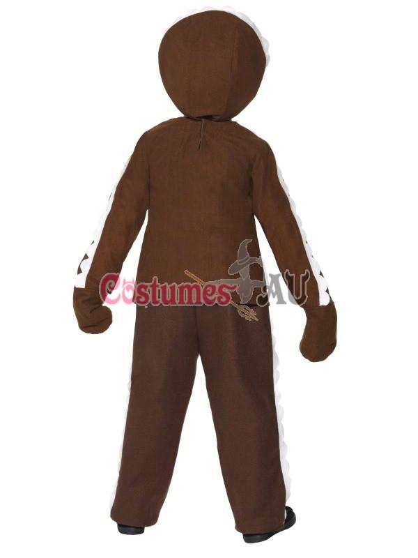 Child Little Ginger Man Gingerbread Costume Boys Kids Brown Book Week Christmas