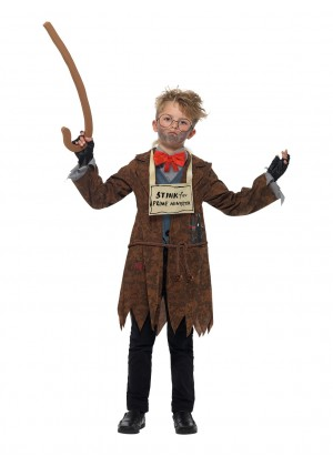 DAVID WALLIAMS COSTUME BOOK WEEK CHILDREN BOY GIRLS DELUXE MR STINK COSTUME