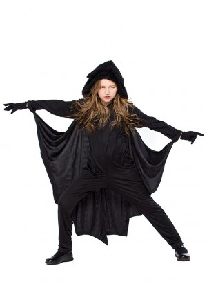 Kids Child Vampire Bat Cosplay Costume Jumpsuit Dracula Halloween Fancy Dress Outfit