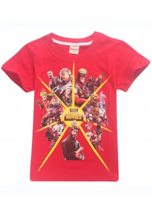 Red FORTNITE Game Boys Girls T-Shirt