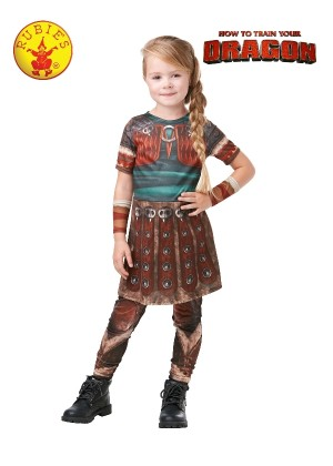 Girls Astrid How To Train Your Dragon Rubies Kids Fancy Dress Costume Outfit Book Week