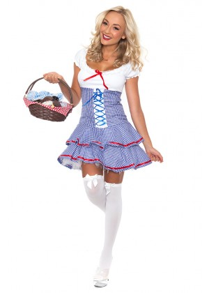 Dorothy Costumes - Ladies Wizard of OZ Dorothy Halloween Fancy Dress Storybook Hens Party Costume Outfit