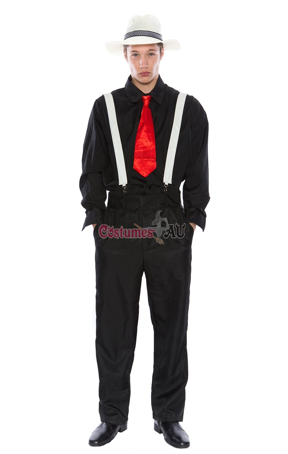 mens 1920s gangster pinstripes pimp suit halloween fancy dress up