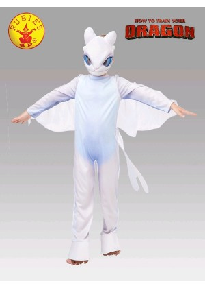 How to Train Your Dragon 3 Toothless Light Fury LIGHTFURY Child Boy Licensed Costume halloween